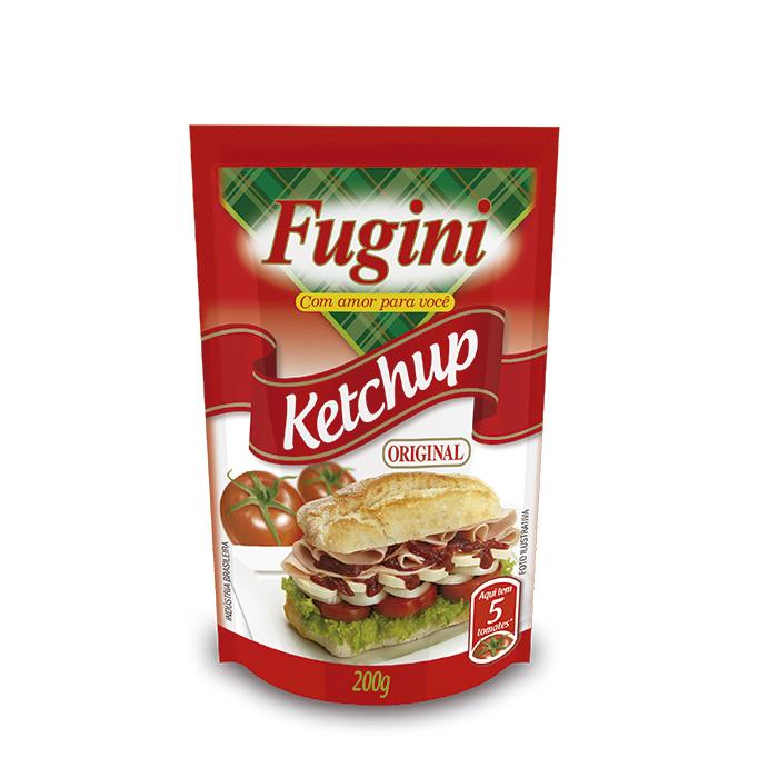 Ketchup Tradicional Sachê 200g Fugini