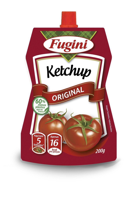 Ketchup Tradicional Sachê Bico Dosador 200g Fugini