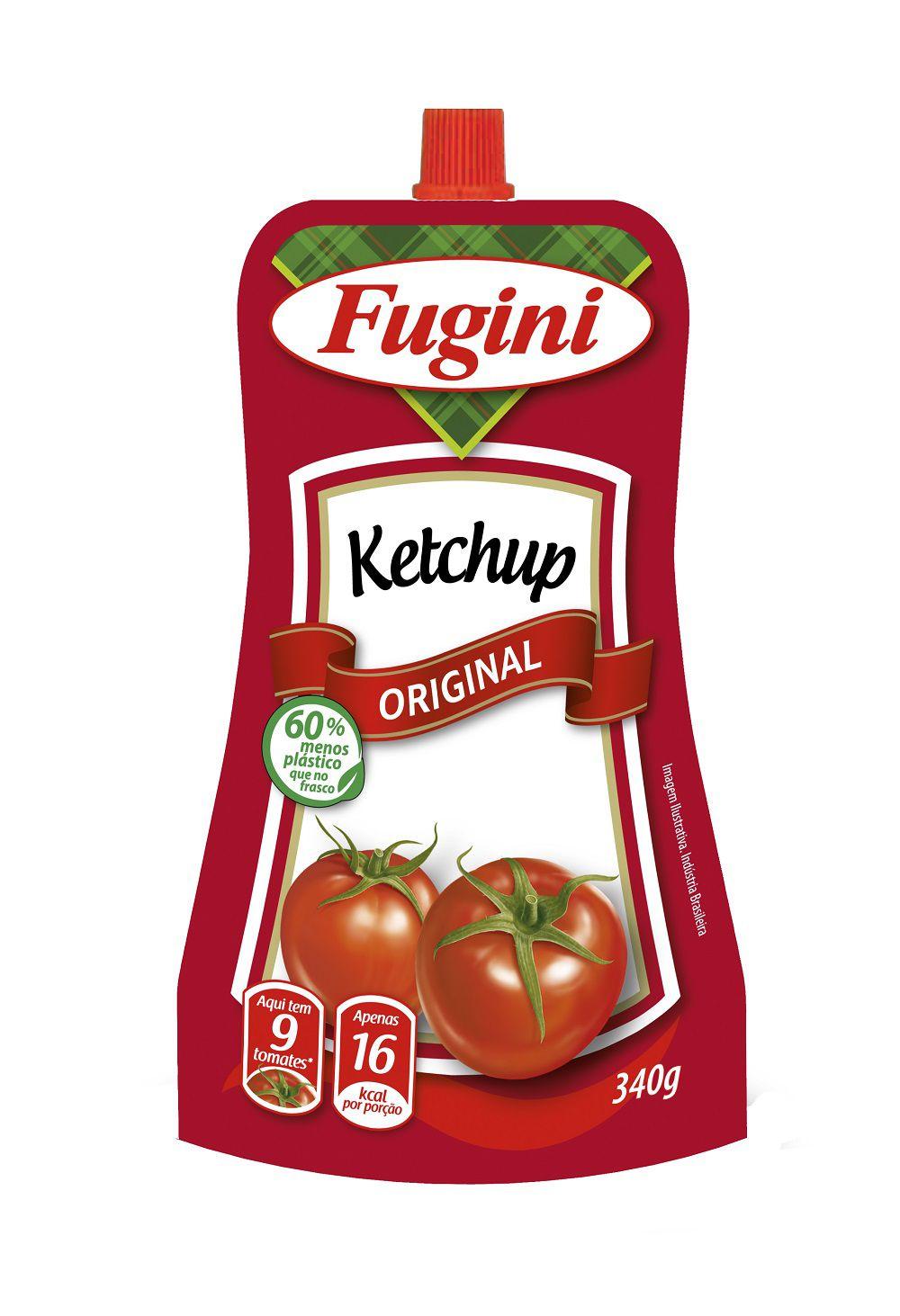 Ketchup Tradicional Sachê Bico Dosador 340g Fugini