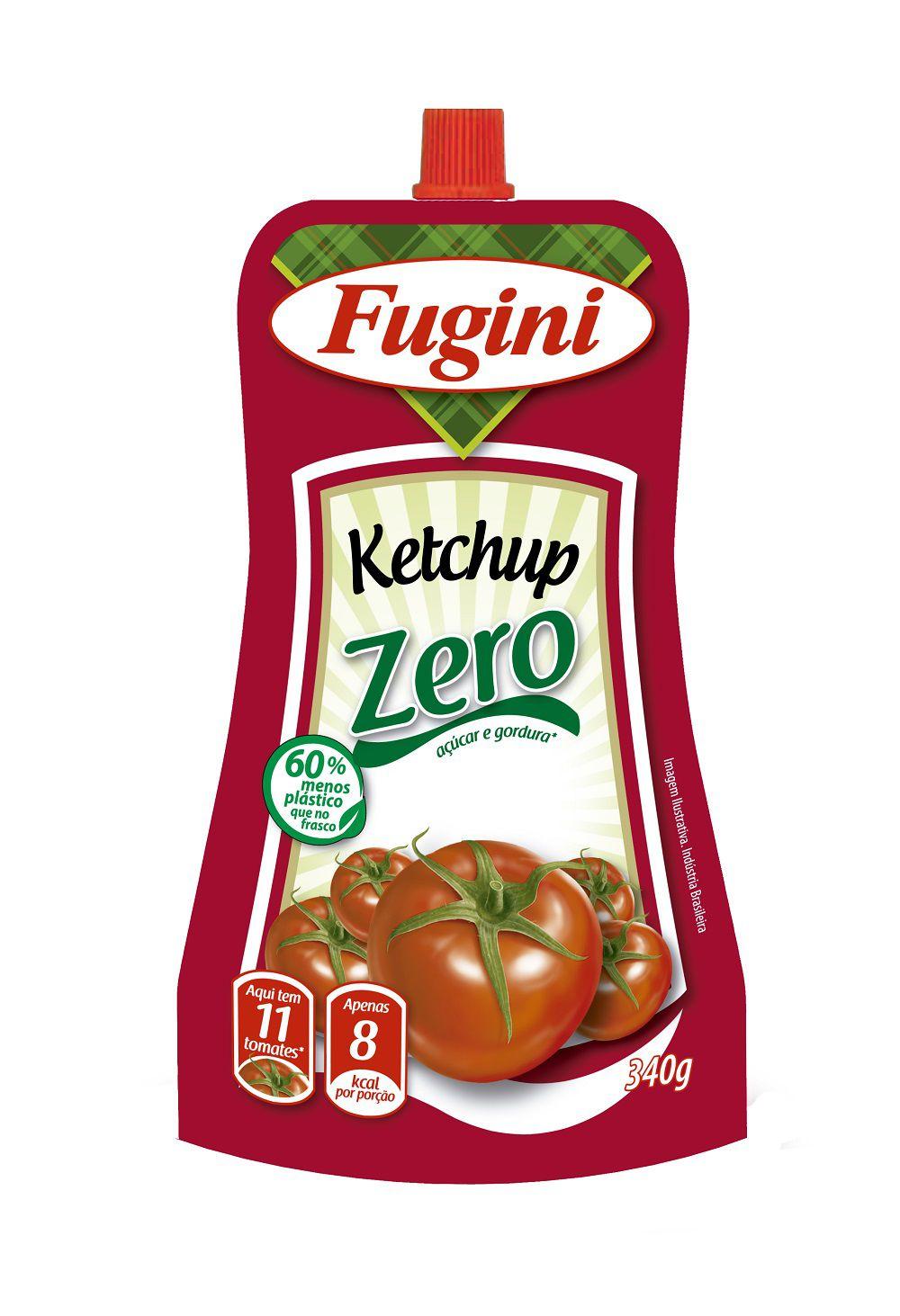 Ketchup Zero Bico 340g Fugini