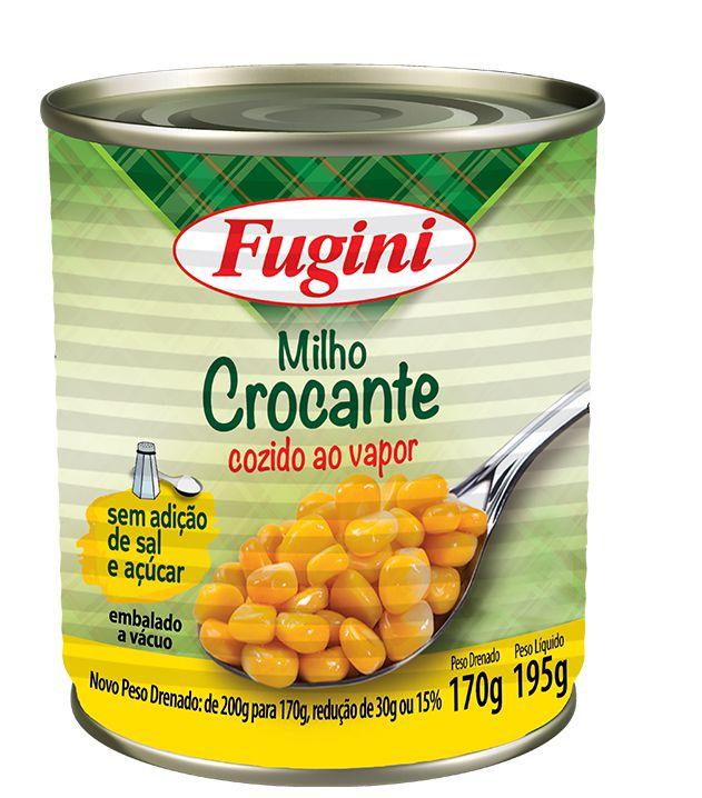 Milho Crocante ao Vapor Lata 170g Fugini