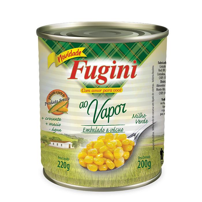 Milho Verde ao Vapor Lata 200g Fugini
