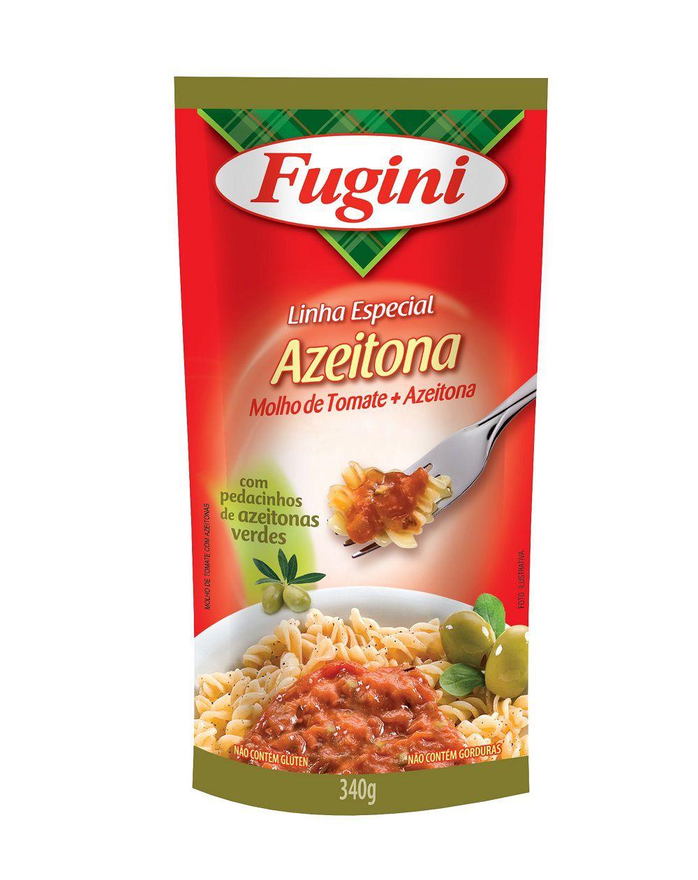 Molho de Tomate Azeitona Sachê 340g Fugini