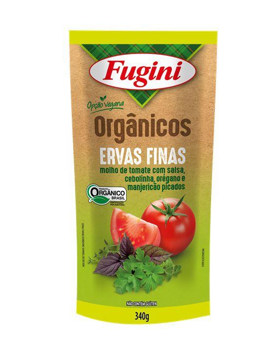 Molho de Tomate Orgânico Ervas Finas Sachê 340g Fugini