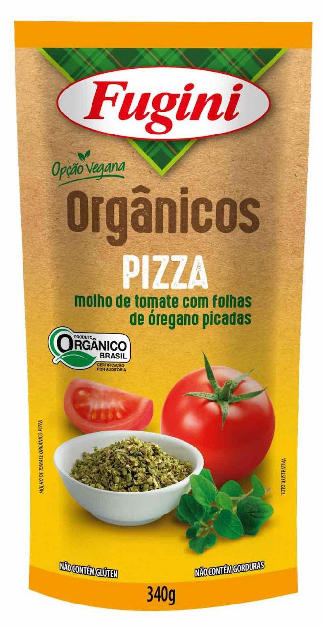 Molho de Tomate Orgânico Pizza  Sachê 340g Fugini