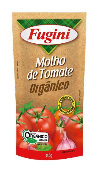 Molho de Tomate Orgânico Sachê 340g Fugini