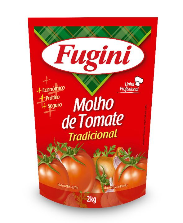Molho de Tomate Tradicional Sachê 2Kg Fugini
