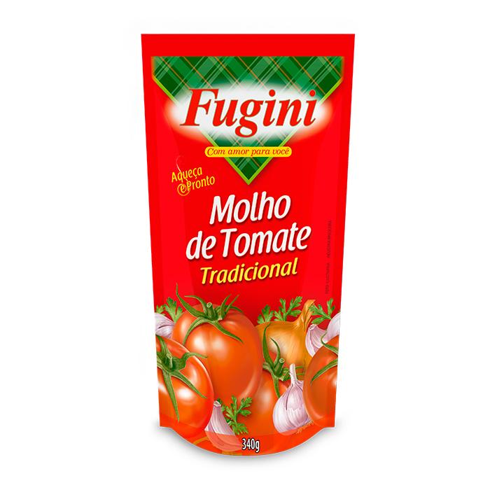 Molho de Tomate Tradicional Sachê 340g Fugini