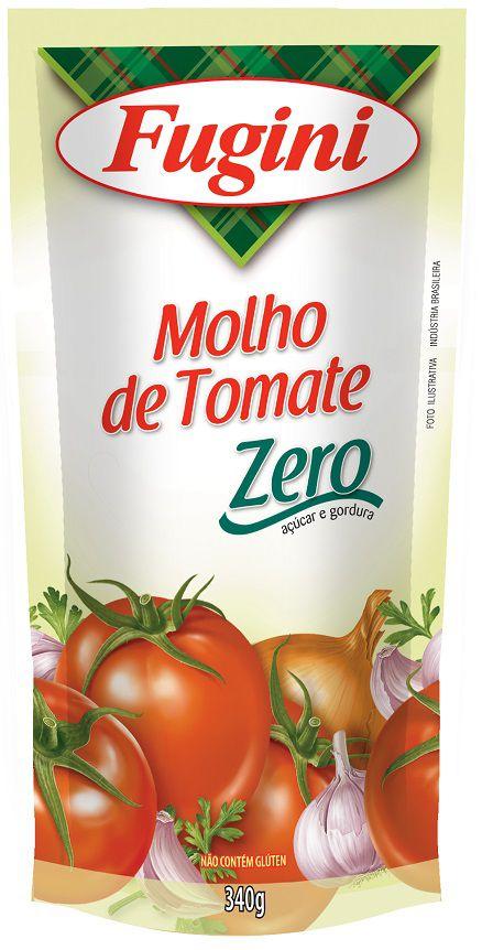 Molho de Tomate  Zero Sachê 340g Fugini