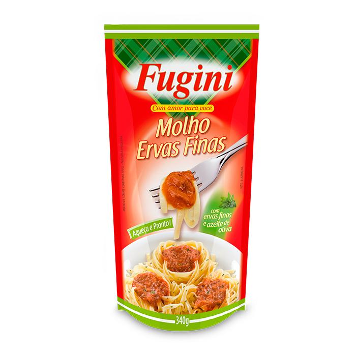 Molho de Tomate Ervas Finas Sachê 340g Fugini