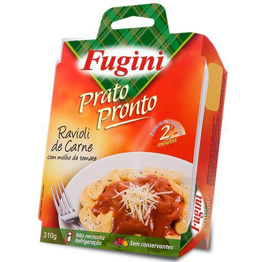 Prato Pronto Ravioli de Carne com Molho de Tomate 310g Fugini