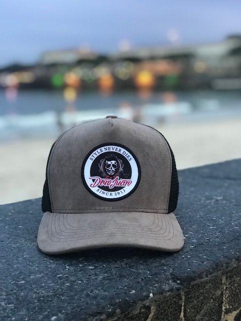 Boné Don Juan - Trucker - Camurça Cinza Escuro e Tela