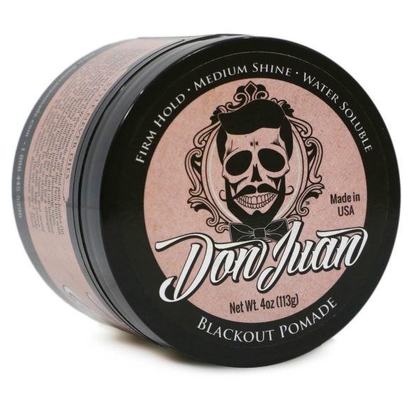 Don Juan Blackout - Pomada Preta para Cabelo Masculino - Cobrindo Fios Brancos