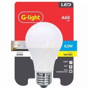 Lampada De Led Luz Branca 6500k A60 G Light 6,5w (à vista)
