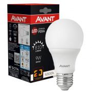 Lampada led 9w bulbo bivolt E27 -  Avant Branco Frio