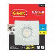 Spot Led Direcionável Quadrado 4w 6500k  G-light
