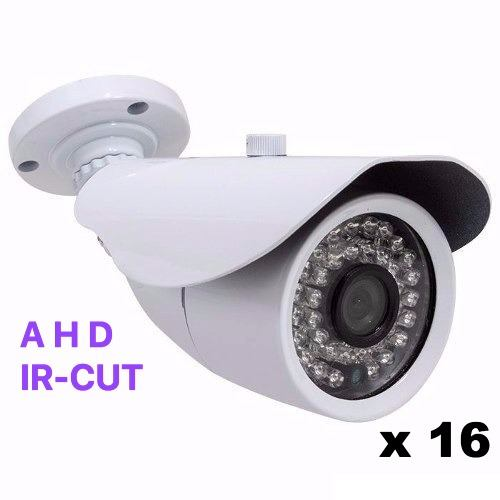 Kit Cftv Hd Luxvision Dvr 16 Ch 16 Ahd 1.3mp + 200mts Cabo