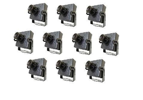 10 Mini Cameras Ccd 1/3 Day Night 1000 linhas + Fonte 5a