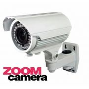 Camera Cftv Zoom 72 Leds Lente Varifocal 2,8mm Com Ir-cu