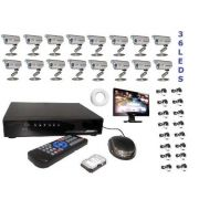 Kit Cftv Dvr 16 Canais + 16 Cameras 2000l+ Monitor +hd