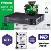 Dvr Stand Alone Mhdx Multihd 16ch 1016 + Hd Purple 4tb