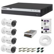 Kit 4 Cameras Vhd 3230b Full Hd 1080p Dvr 3008 8ch Intelbras