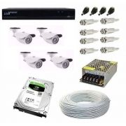 Kit Cftv 4 Câmeras Hd 960p 2mp Dvr Luxvision 5x1 Com Hd