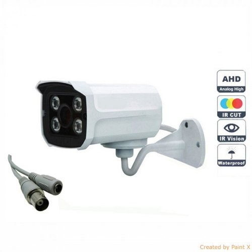Camera Segurança Infra Ahd 4 Leds Array 1.3 Mp + Fonte
