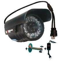 Câmera 60 Metros Infravermelho 1500 Linhas Lente 8mm