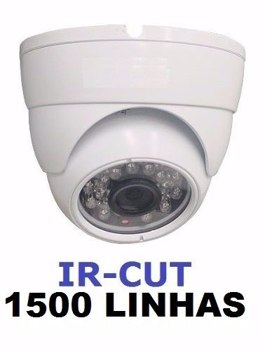 Camera Dome Branca Infrared 1500 Linhas Com Ir-cut Com Fonte