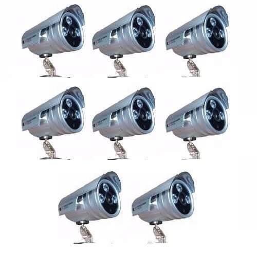 Kit 08 Câmeras Infra 2000 Linhas + 8 Fontes + 16bnc + 16 P4