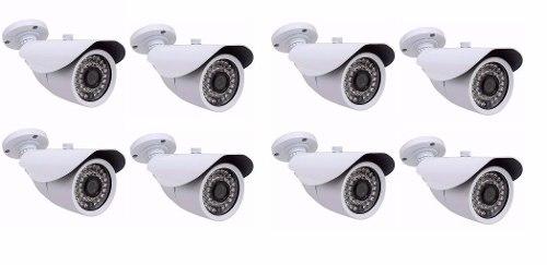 Kit 8 Cameras Infravermelho Infra Ahd M 1.3 Mp Com Ir Cut
