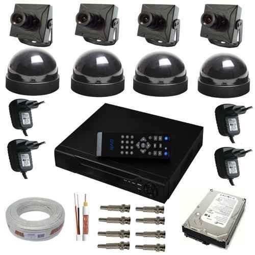 Sistema De Monitoramento 4 Câmeras Com Gravador Digital- Dvr