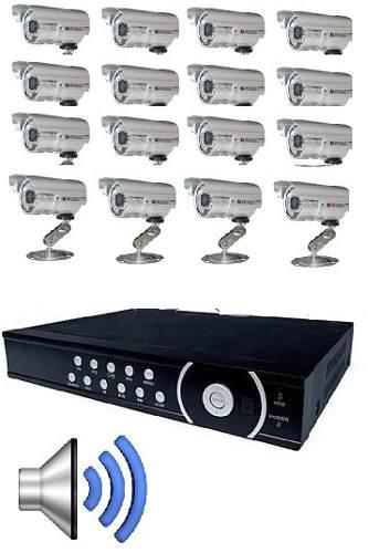 Kit Cftv Dvr H.264 16 Canais / 16 Cameras Infra /16 Fonte 1a