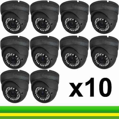 Kit Camera Dome Ccd Infra Vermelho 24 Led 2.00l -10 Unidades