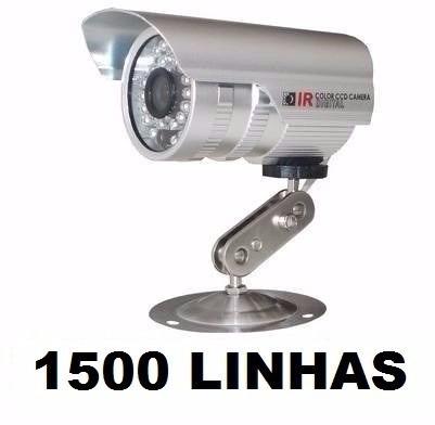 Kit 10 Câmeras Infra Ccd Sony 1/3 1500 Linhas + 10 Fontes