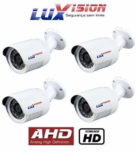 Kit 4 Câmeras Bullet Luxvision Ahd -resolução Hd 1 Megapixel