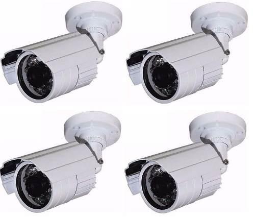 4 Câmeras Cftv Infravermelho 1200 Linhas Ir-cut Duplo Filtro