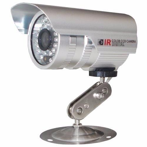 Camera Prata Cftv 36 Leds Infra Red Visão Noturna