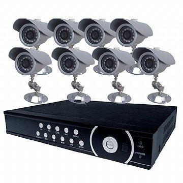 Kit Cftv 8 Canais / 8 Cameras Infra + Fonte + Cabo+ Hd500gb