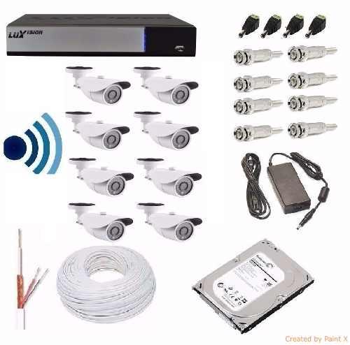 Kit Cftv Dvr Luxvision 10 Cameras Infra Hd Ahd Ir-cut