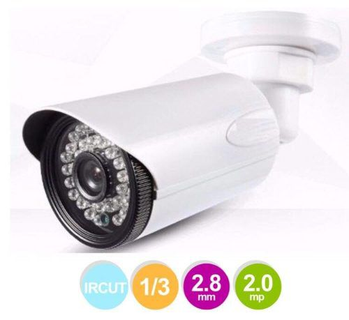 4 Camera Segurança Cftv Infrared Ahd 36 Leds Hd 2.0 Mp 2.8mm
