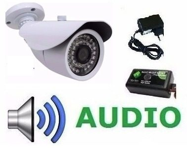 Câmera Cftv Ahd 1.3 Mega Infravermelho 36leds C/ Audio+fonte