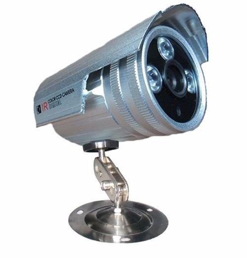 Câmera Ccd Cftv Infravermelho 2000 Linhas Audio Fonte