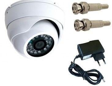 Câmera Infra Dome Ahd Lente 3.6mm 1.3mp + Fonte Conect