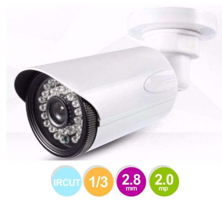 Camera Segurança Infra Ahd 36 Leds Hd 2.0 Mp Lente 2.8mm