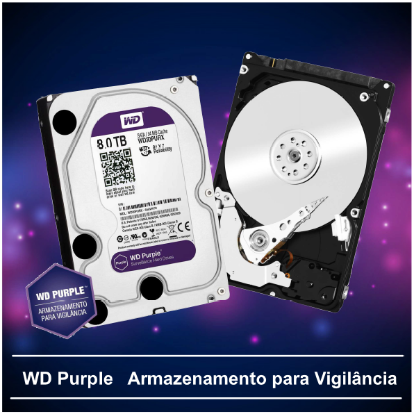 Hd Wd Purple 8tb 128mb Ideal Dvr Stand Alone Wd80purz