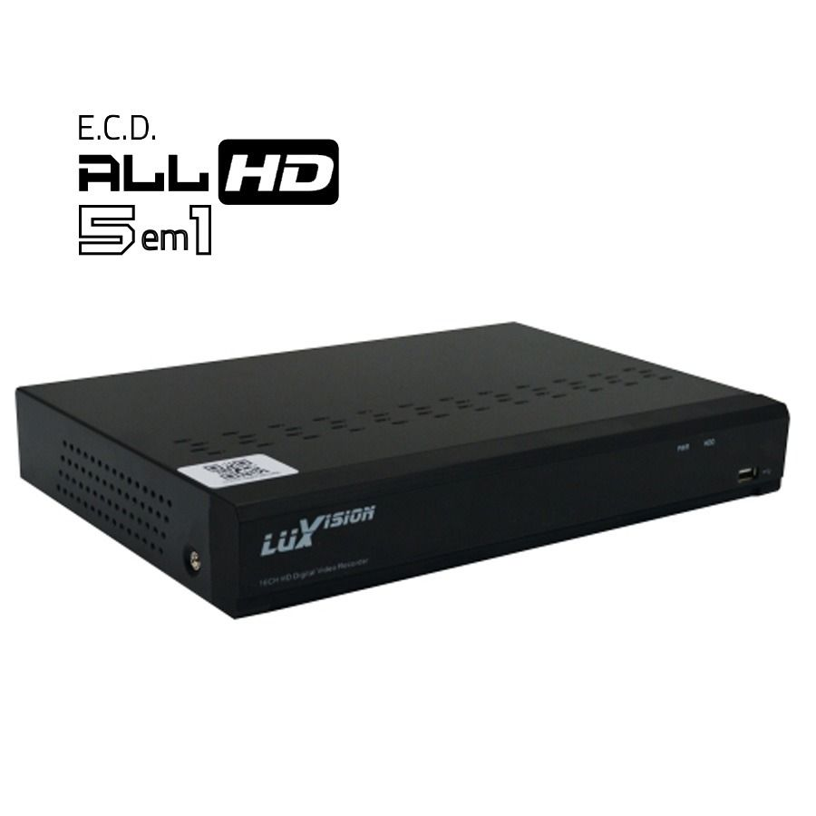 Kit Cftv 3 Câmeras Ir Cut 2.000 Linhas + DVR Luxvision Full HD + Hd 1tb