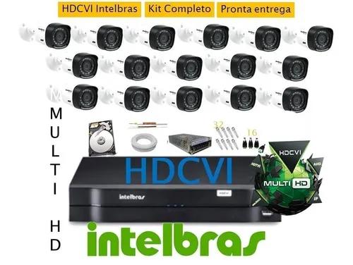 Kit Intelbras 16 Cam + Dvr 16ch Multihd Intelbras G3 C/ 2tb