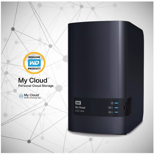 Servidor Storage Nas Wd My Cloud Expert Ex2 Ultra Ate 20tb